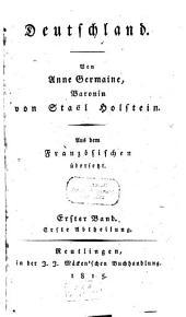 Deutschland: aus dem Französischen übersetzt, Band 1