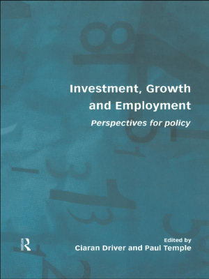 Investment  Growth and Employment PDF
