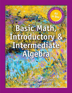 Basic Math, Introductory and Intermediate Algebra