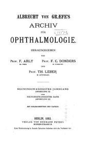 Albrecht von Graefes Archiv für Ophthalmologie: Band 29,Ausgaben 3-4