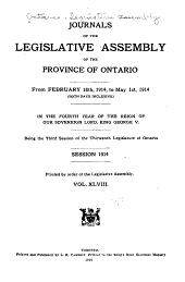 Journals of the Legislative Assembly of the Province of Ontario: Volume 48
