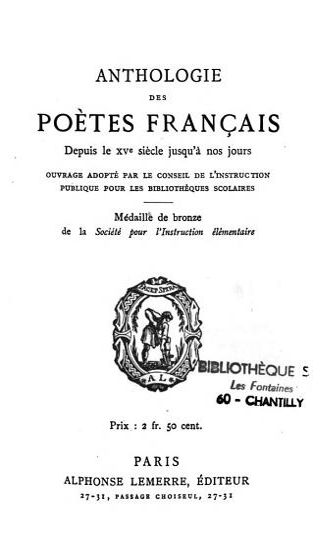 Anthologie des po  tes fran  ais PDF