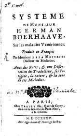 Système de Monsieur Herman Boerhaave sur les maladies vénériennes