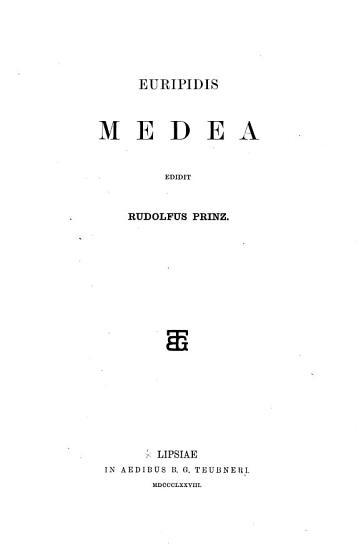 Medea edidit R  Prinz  Gr PDF