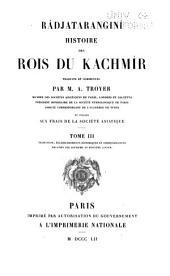 Râdjataranginî: histoire des rois du Kachmîr, Volume3