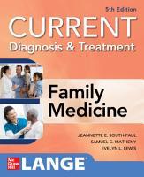 CURRENT Diagnosis   Treatment in Family Medicine  5th Edition PDF