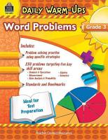 Daily Warm Ups  Problem Solving Math Grade 3 PDF