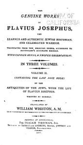 The last nine books of the Antiquities of the Jews, with the life of Flavius Josephus written by himself