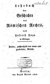 Lehrbuch der Geschichte des römischen Rechts