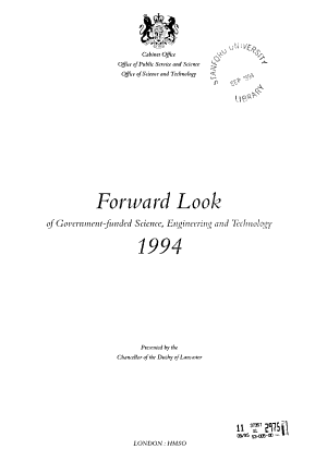 Forward Look of Government funded Science  Engineering and Technology PDF