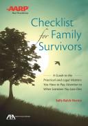Checklist for Family Survivors Book