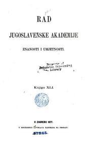 Rad Jugoslavenske akademije znanosti i umjetnosti: Books 41-42