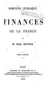 Fortune publique et finances de la France: Volume1