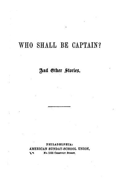 Who Shall be Captain  PDF