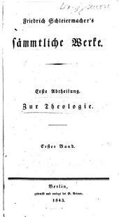 Friedrich Schleiermacher's sämmtliche Werke: Predigten