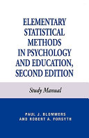 Elementary Statistical Methods in Psychology Book
