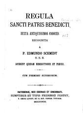 Reglua Sancti Patris Benedicti