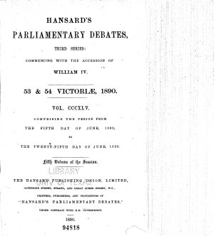 The Parliamentary Debates  Authorized Edition  PDF
