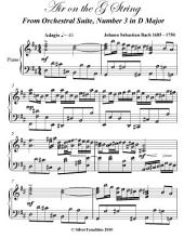 Air on the G String Intermediate Piano Sheet Music