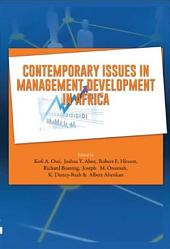 Contemporary Issues in Management Developmnt in Africa