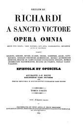 Patrologiae latina cursus completus ... series secunda: Volume 196