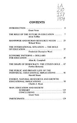 Man Education and Society  in  the Year 2000 PDF