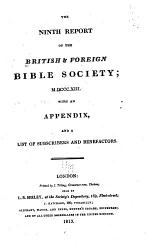 Report - British and Foreign Bible Society