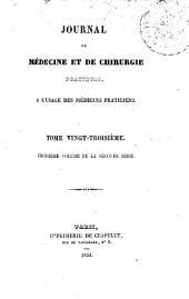 Journal de médecine et de chirurgie pratique: à l'usage des médecins praticiens, Volume23