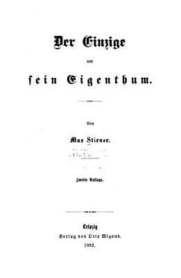 Der Einzige und sein Eigenthum PDF