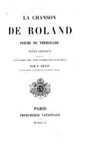 La chanson de Roland: poëme de Theroulde