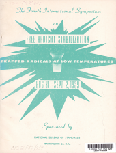 4th International Symposium of Free Radical Stabilization Trapped Radicals at Low Tempertures PDF