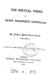 The poetical works of Henry Wadsworth Longfellow. Author's pocket-vol. ed: Volume 1