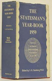 The Statesman's Year-Book: Statistical and Historical Annual of the States of the World for the Year 1959, Edition 96