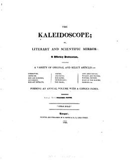 Kaleidoscope  Or  Literary and Scientific Mirror Book