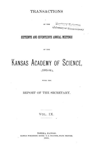 Download Transactions of the Kansas Academy of Science Book