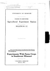 Experiments with Farm Crops in Southwest Missouri