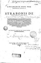 Strabonos Peri tes geographias biblia IZ