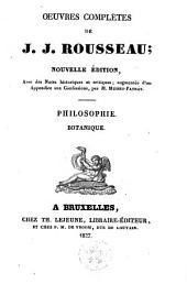 Philosophie. Botanique