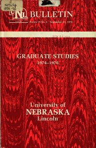 University of Nebraska Lincoln  Catalog  GRADUATE  PDF