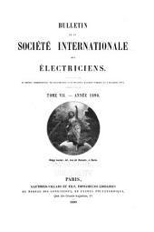 Bulletin de la Société internationale des électriciens: Volume 7