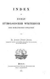 Index zu Diez' Etymologischen Wörterbuch der romanischen Sprachen