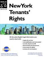 New York Tenants  Rights PDF