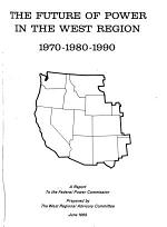 The Future of Power in the West Region, 1970-1980-1990
