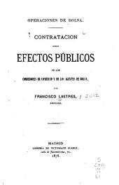 Contratación sobre efectos públicos de los corredores de comercio y de los agentes de bolsa