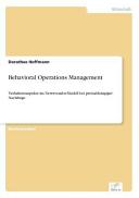 Behavioral Operations Management PDF