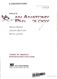 Human Anatomy and Physiology Lab Manual Book