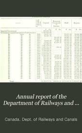 Annual Report of the Department of Railways and Canals