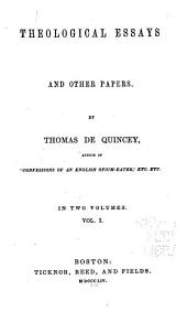 De Quincey's Writings: Volume 16