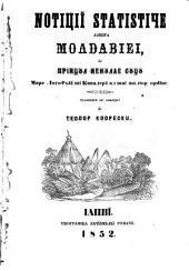 Noti#,tiǐ statistice asupra Moldaviei. Tr. de T. Codrescu