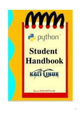 PYTHON INSTALLATION IN KALI LINUX: Hacker's handbook